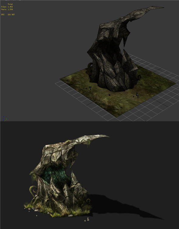 Game Models - poison Valley Scene - poison stone teeth 01 - 3DOcean Item for Sale
