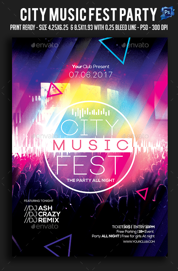 City Music Fest Party Flyer - Clubs & Parties Events