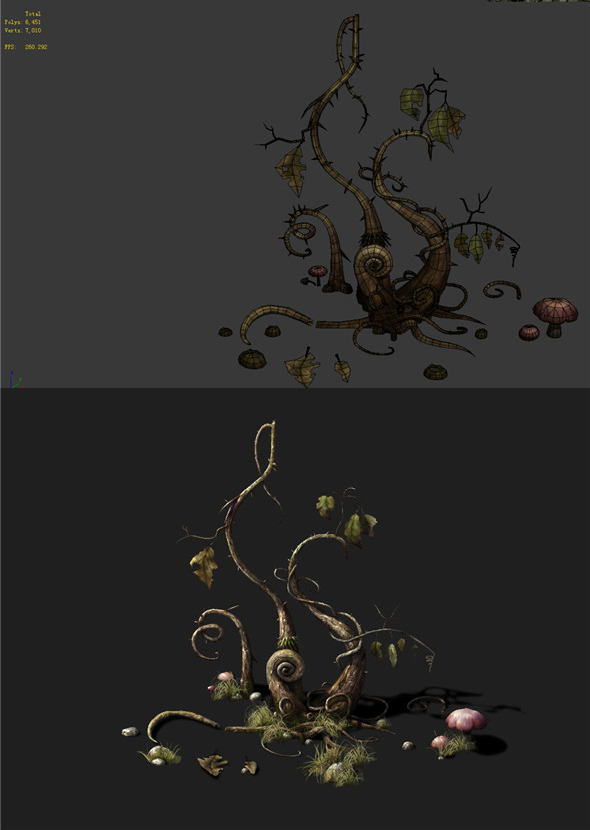 Game Models - poison Valley Scene - poisonous plant thorn 03 01 - 3DOcean Item for Sale