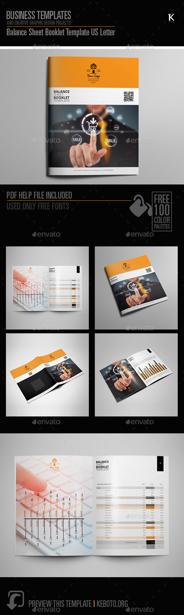 Balance Sheet Booklet Template US Letter - Miscellaneous Print Templates