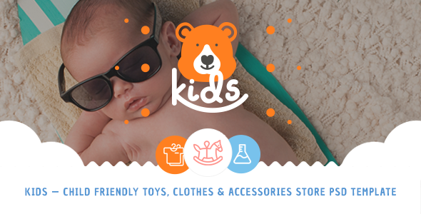 Kids – Child Friendly Toys, Clothes & Accessories Store PSD Template