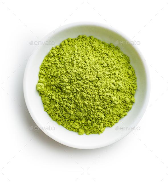Green matcha tea powder. - Stock Photo - Images