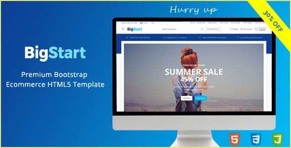 BigStart – Premium Bootstrap Ecommerce HTML5 Template