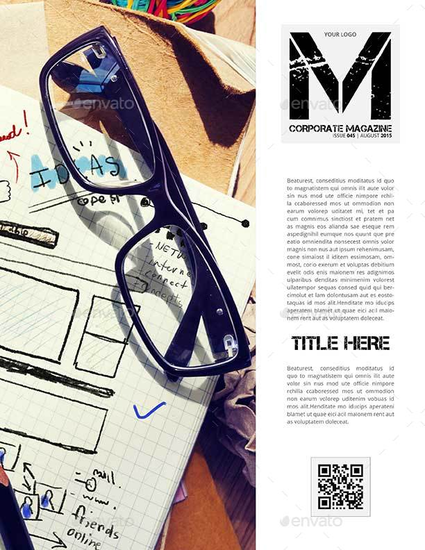 corporate digital magazine template us letter by keboto graphicriver. Black Bedroom Furniture Sets. Home Design Ideas