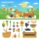 Basket Full of Fresh Fruits and Vegetables - GraphicRiver Item for Sale