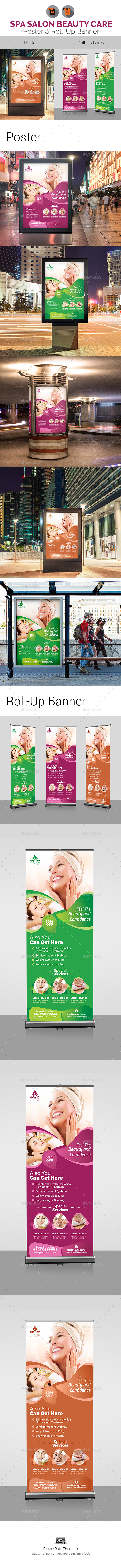 Spa | Beauty Salon Poster & Roll Up Banner - Signage Print Templates
