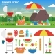 Summer Picnic in the Mountains - GraphicRiver Item for Sale