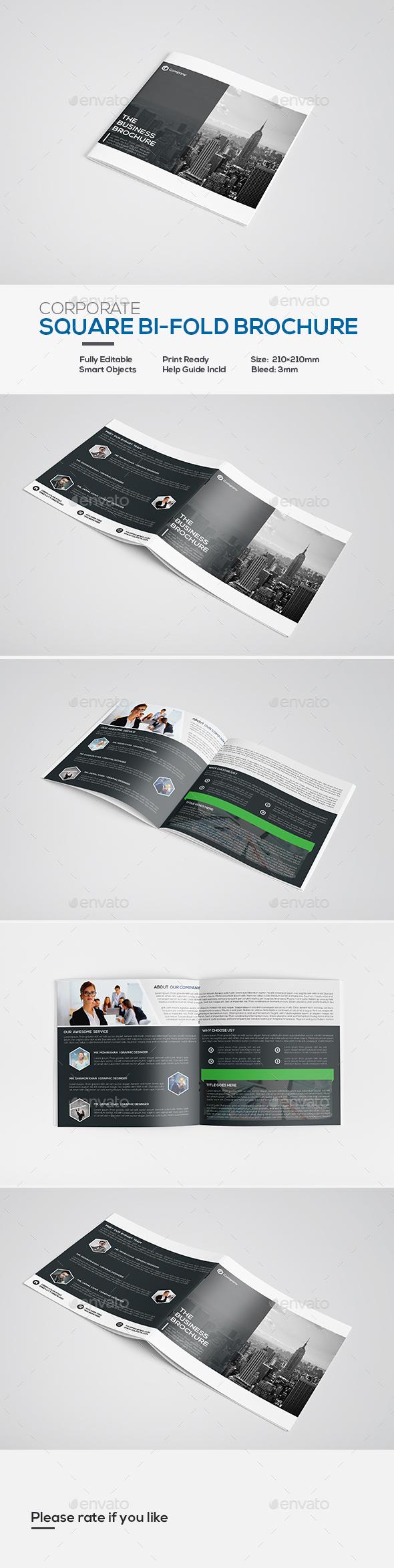 Square Corporate Bi-fold Brochure - Corporate Brochures
