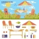 Summer Picnic in the Garden - GraphicRiver Item for Sale