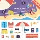 Kit for Tropical Trip on Sand - GraphicRiver Item for Sale