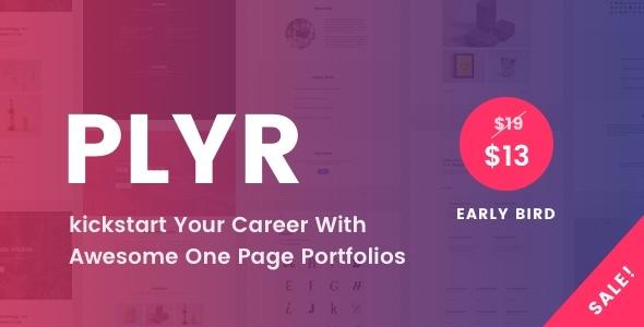PLYR – One Page Portfolios For Everyone