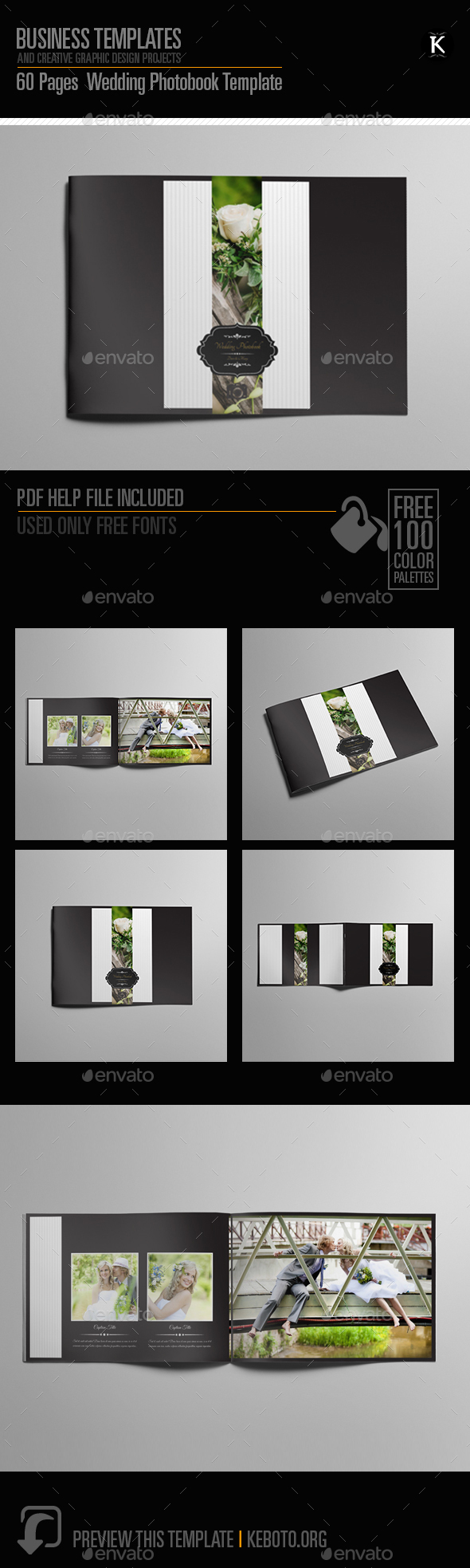 60 pages wedding photobook template by keboto graphicriver. Black Bedroom Furniture Sets. Home Design Ideas