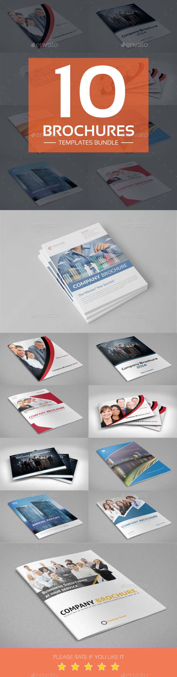 Brochures Templates Bundle - Corporate Brochures