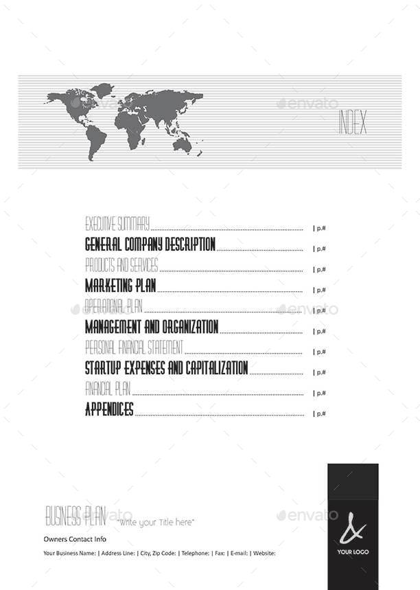 Pages Full Business Plan Template A Portrait By Keboto - Full business plan template