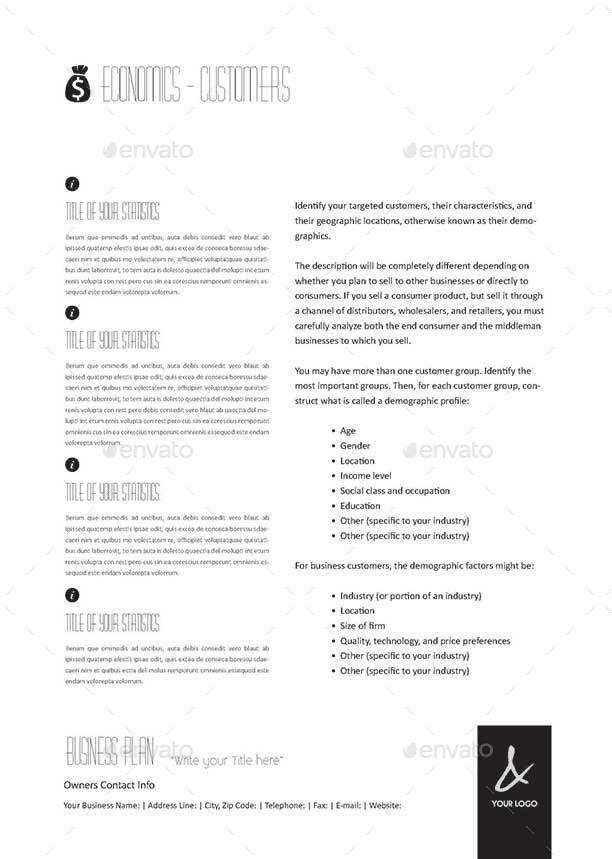 53 Pages Full Business Plan Template A4 Portrait By Keboto