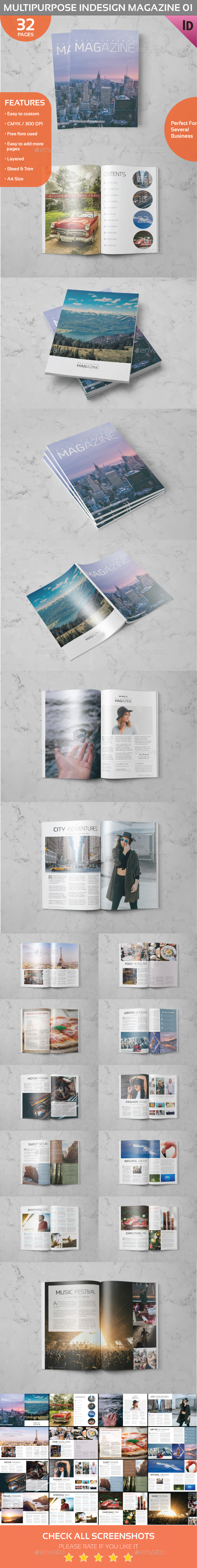 Multipurpose Indesign Magazine 01 - Magazines Print Templates