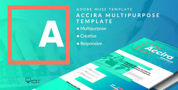 Accira Multipurpose Adobe Muse Template - Creative Muse Templates