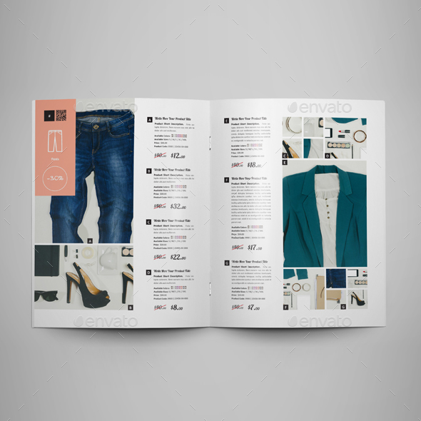 Catalog Examples: 50 Pages Product Catalogue Template By Keboto