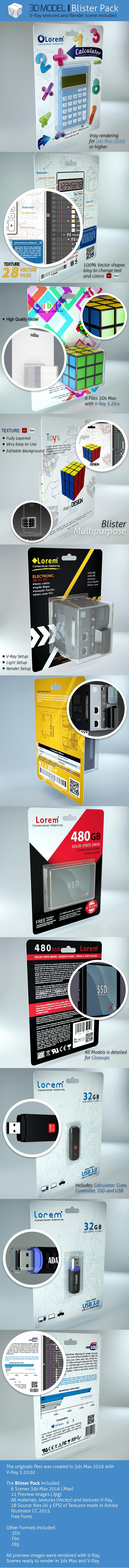 Blister pack - 3DOcean Item for Sale