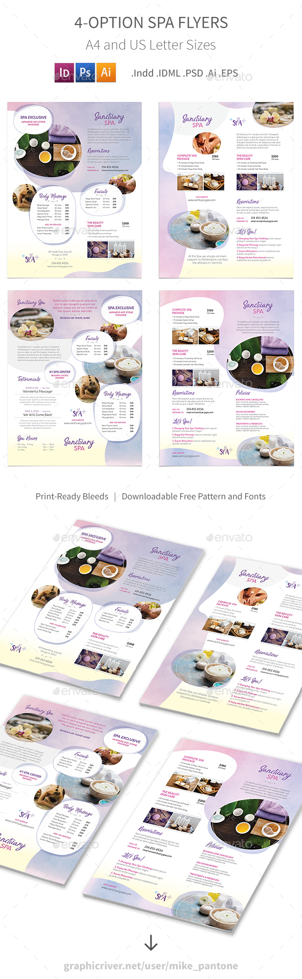 Spa Flyers 7 – 4 Options - Corporate Flyers