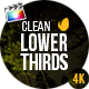 Gold Clean Lower Thirds For Final Cut Pro X - VideoHive Item for Sale