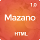 Mazano - Trendy HTML Template - ThemeForest Item for Sale