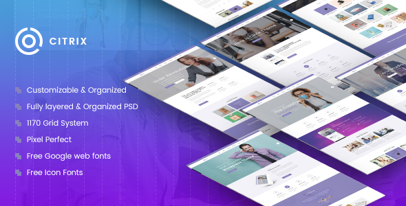 Citrix | Multi-Purpose Website PSD Template