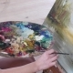Mixing Paint on Palette,