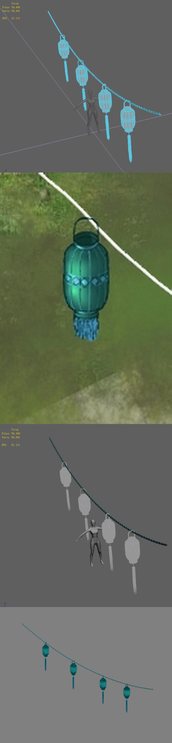 City - lanterns 1 - 3DOcean Item for Sale