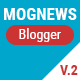 Mogtemplates - Mognews Version 2 Template For Blogger - ThemeForest Item for Sale