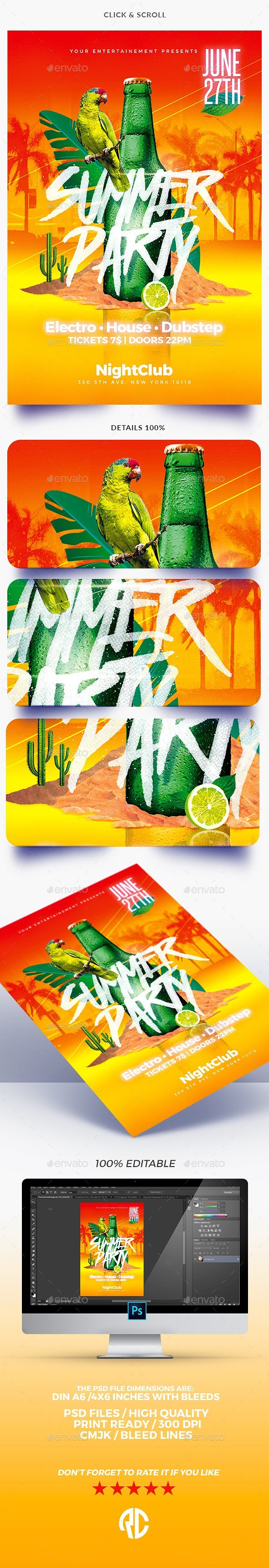 Summer Party - Flyer Templates - Events Flyers