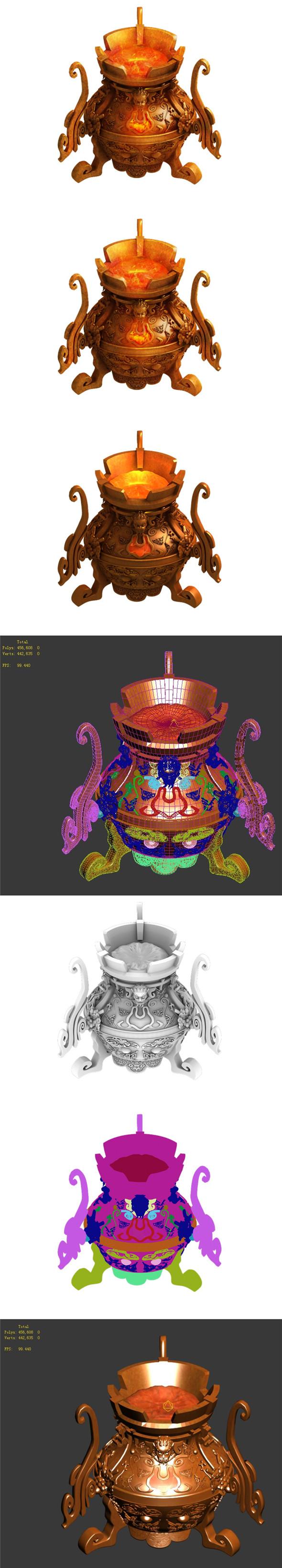 Taoist - alchemy stove - 3DOcean Item for Sale