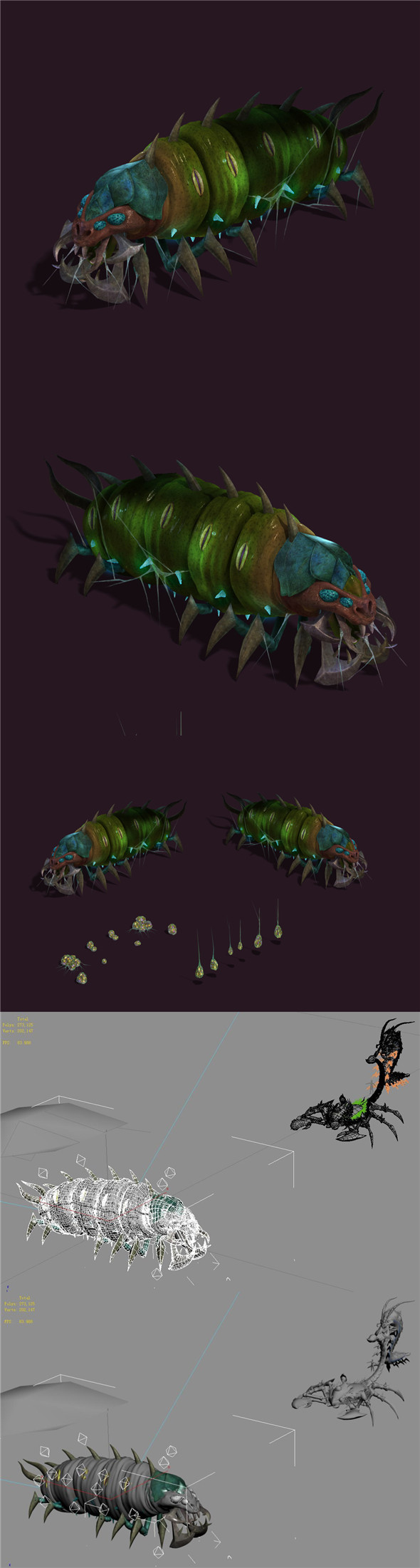 Underground city - poisonous insects - 3DOcean Item for Sale