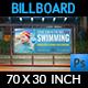Swimming Billboard Template - GraphicRiver Item for Sale