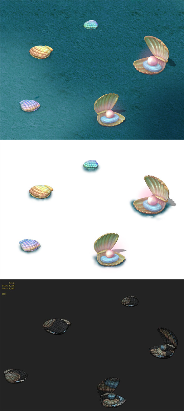 Submarine cartoon world - shells - 3DOcean Item for Sale