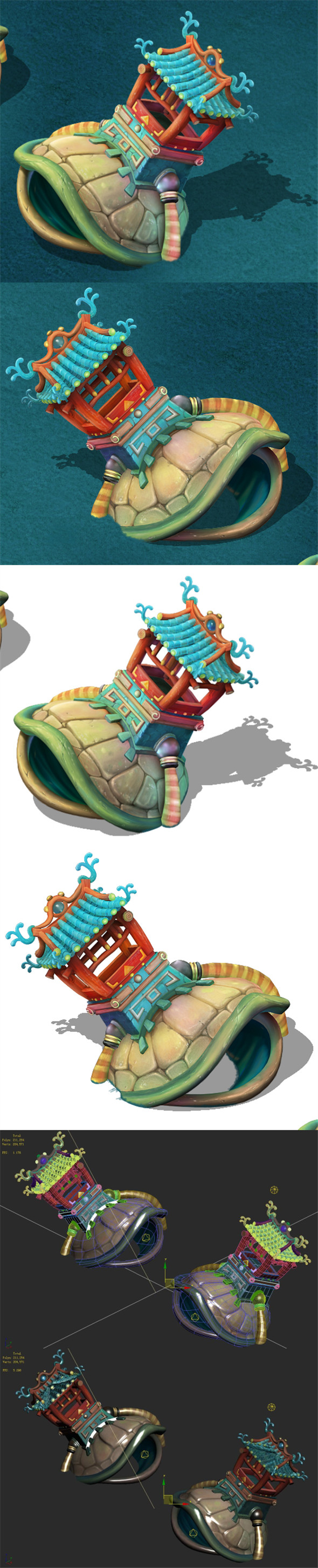 Submarine cartoon world - heavy turtles - 3DOcean Item for Sale