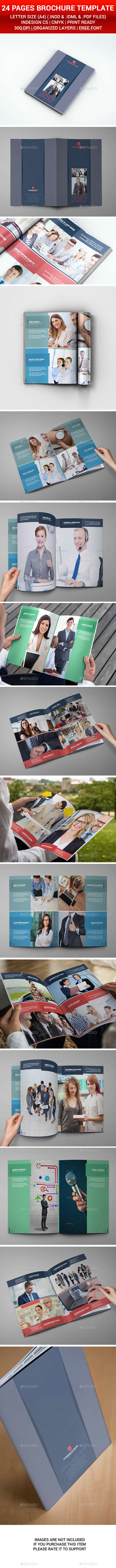 Corporate Brochure 24 Pages - Brochures Print Templates