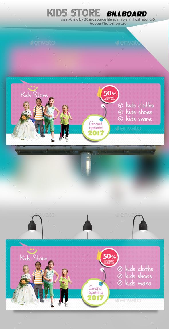 Kids Store Billboard - Signage Print Templates
