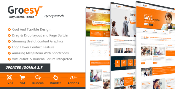 Groesy - Responsive Multi-Purpose Joomla Template - Business Corporate