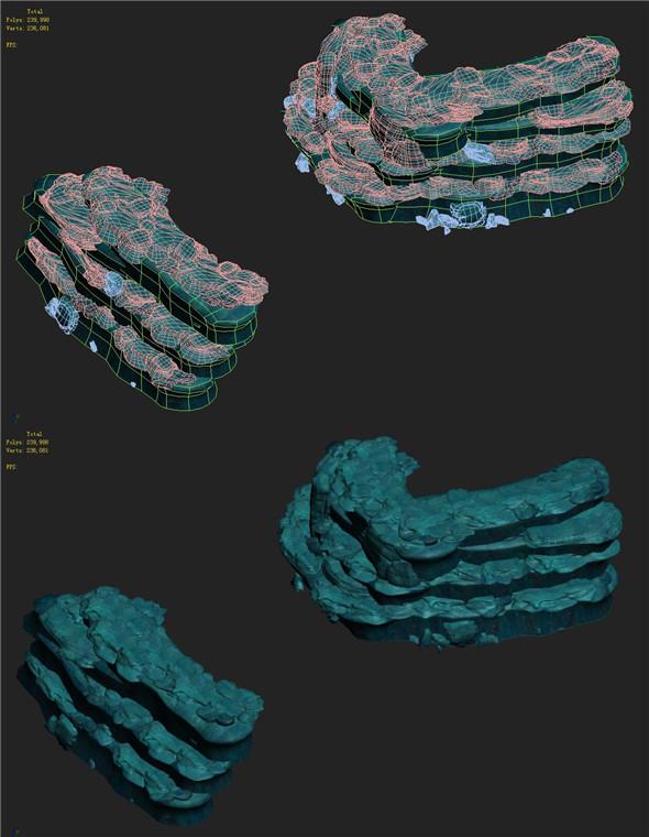 Submarine Cartoon World - Seabed Ladder 03 - 3DOcean Item for Sale