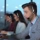 Young Man in Call Center - VideoHive Item for Sale