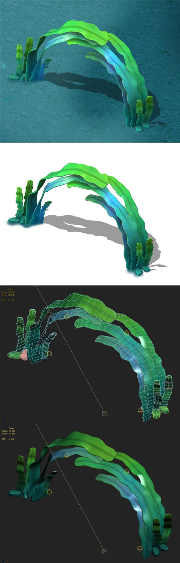 Seaside Cartoon World - Seaweed Arches - 3DOcean Item for Sale