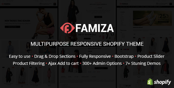 Famiza – Clean & Modern Sectioned Shopify Theme