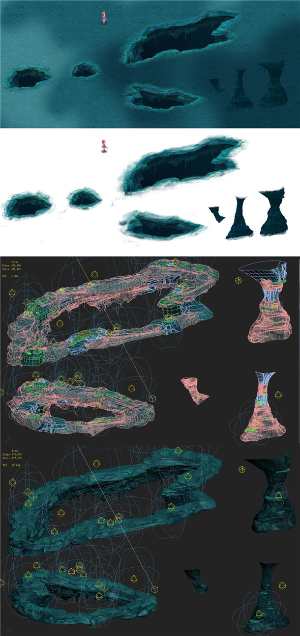Submarine Cartoon World - Happy Valley 01 - 3DOcean Item for Sale