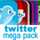Twitter Megapack - 100  Icons & Web Elements - GraphicRiver Item for Sale