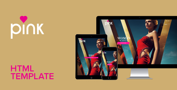 Pink – Responsive HTML Template