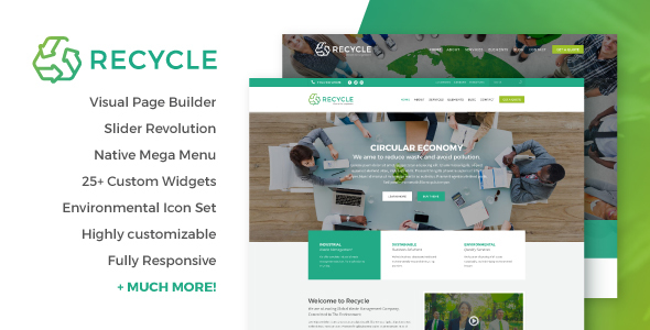 Image of Recycle - Environmental & Recycling WordPress Theme