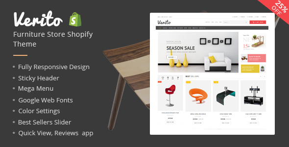 Verito – Furniture Store Shopify Theme