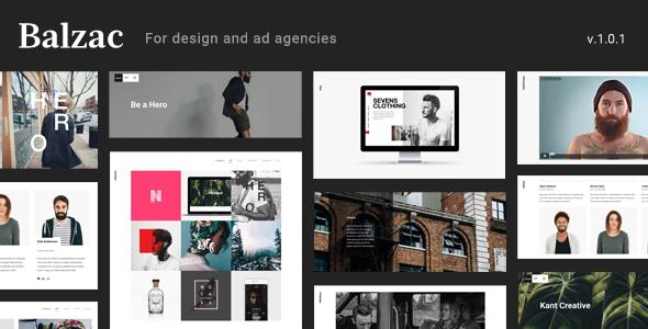 Balzac Minimal and Creative WordPress Theme