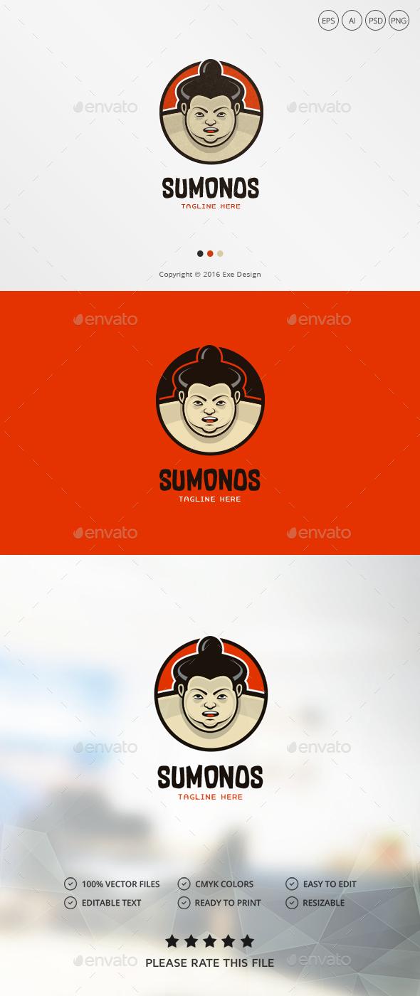 Sumo Warrior Logo - Humans Logo Templates